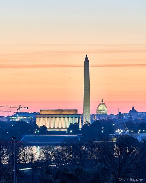 Purple DC Skyline