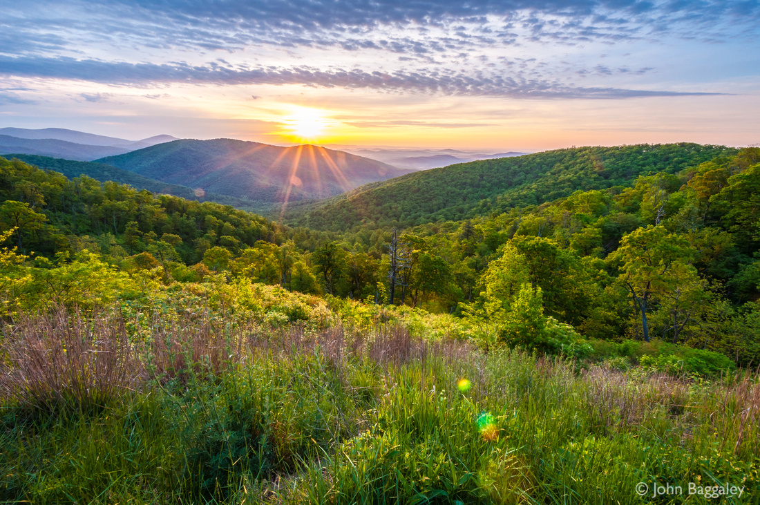 Fine art photo by John Baggaley of a spring sunrise in Shenandoah National Park in Virginia.