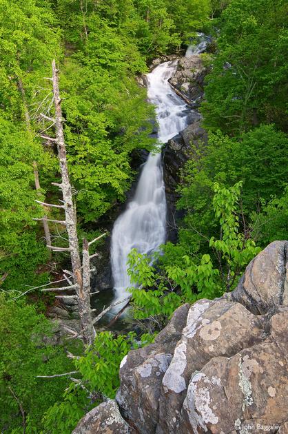 Fine art photo by John Baggaley of Whiteoak Canyon Falls in Shenandoah National Park, Virginia.
