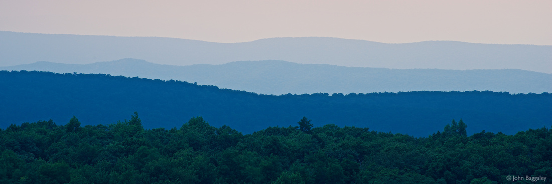 Photo by John Baggaley of the Blue Ridge Mountains in Virginia.