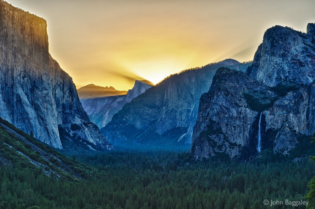 Sunrise over Yosemite Valley