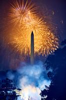 Orange Fireworks, Blue Smoke