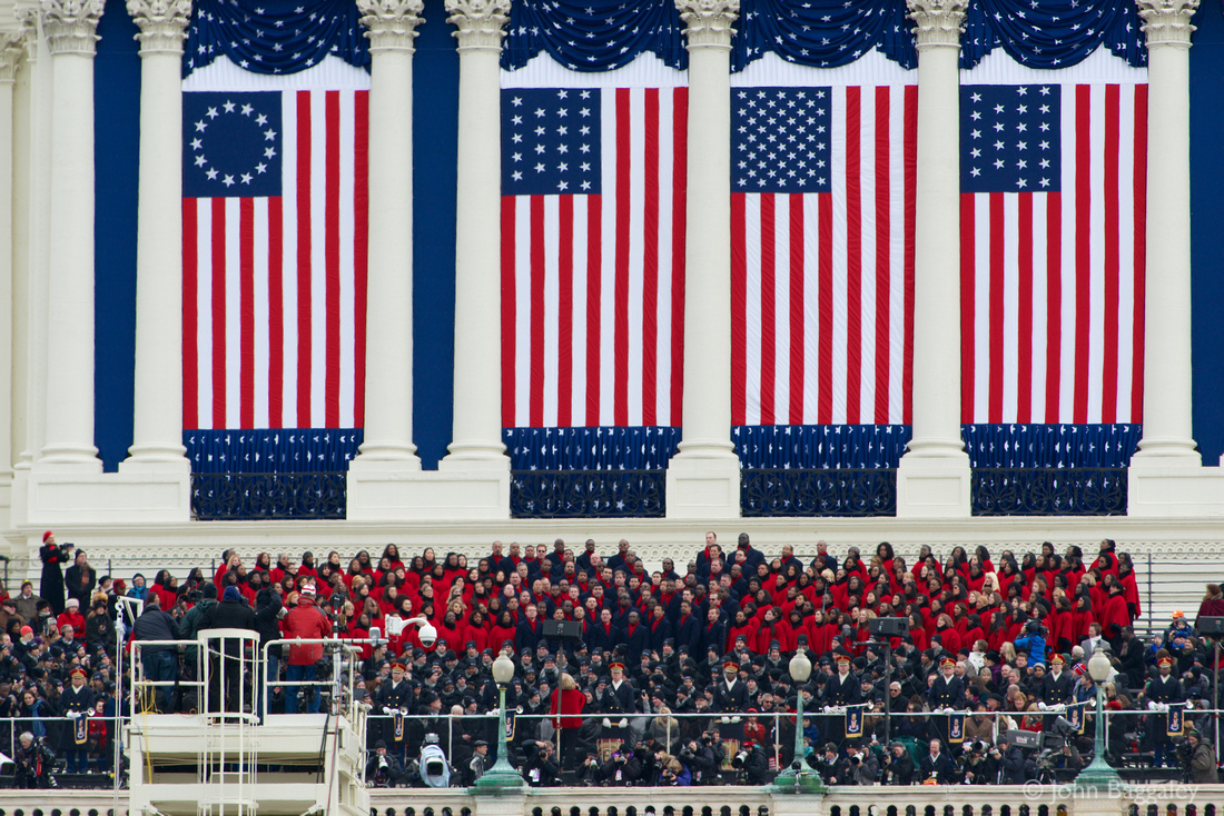 The Brooklyn Tabernacle Choir sings at the Capitol during the second inauguration of President Obama.