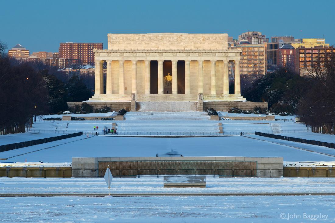 Winter Dawn at the Lincoln Memorial