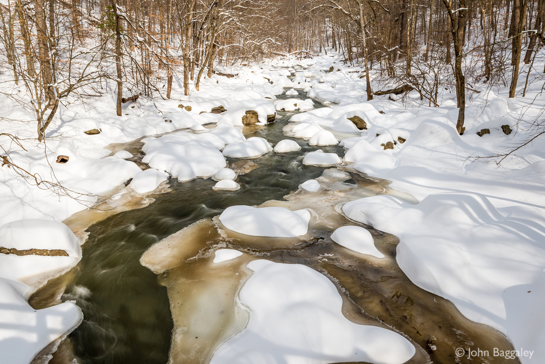 Rock Creek with snow