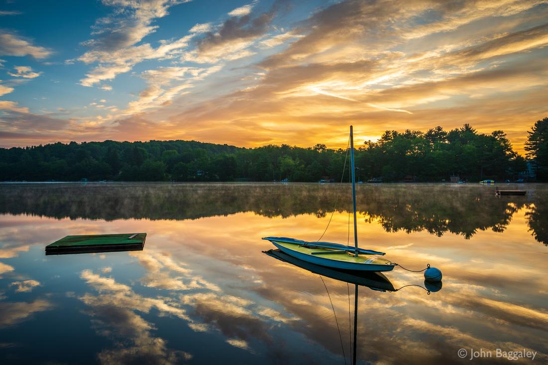 Sunrise at Lake Wesauking
