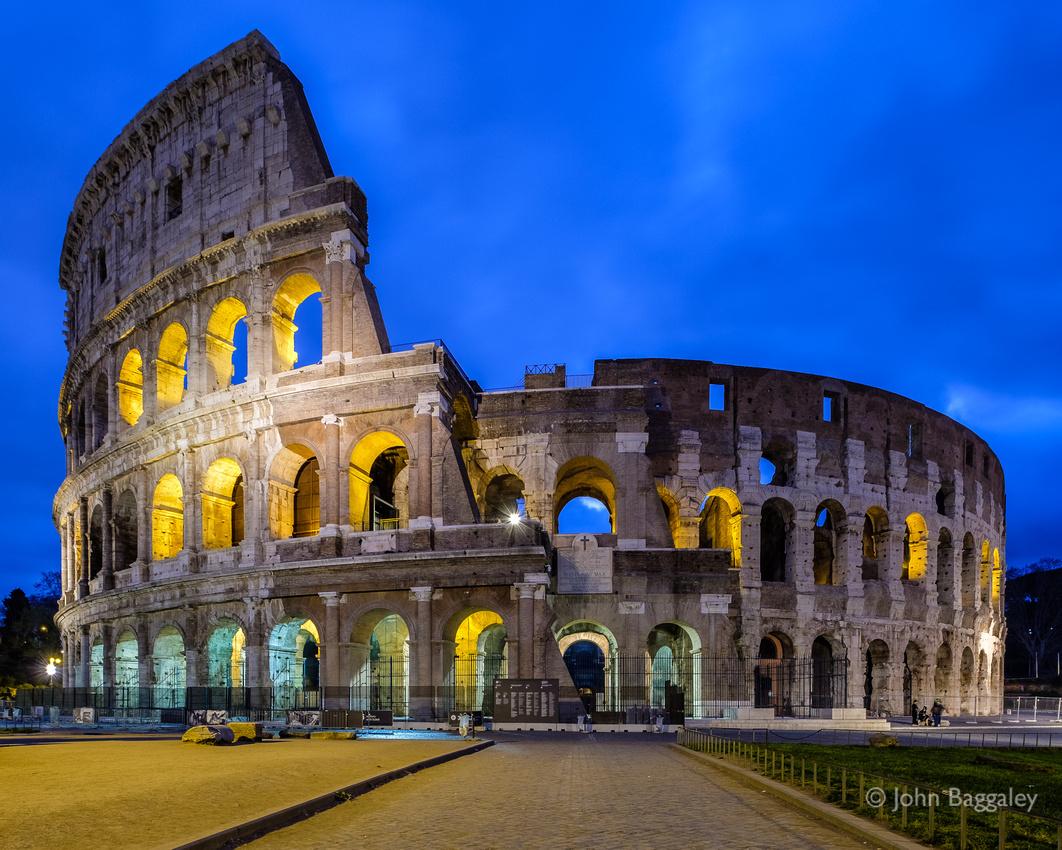 Colosseum Cloudy Dawn