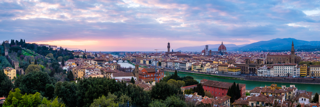 Cloudy Sunset Over Florence
