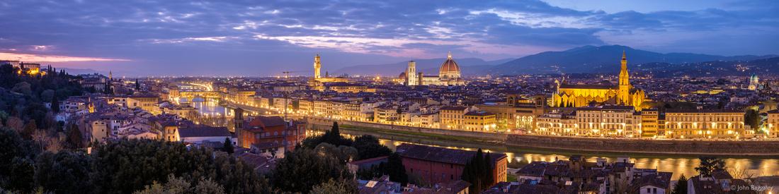 Nightfall on Florence panorama