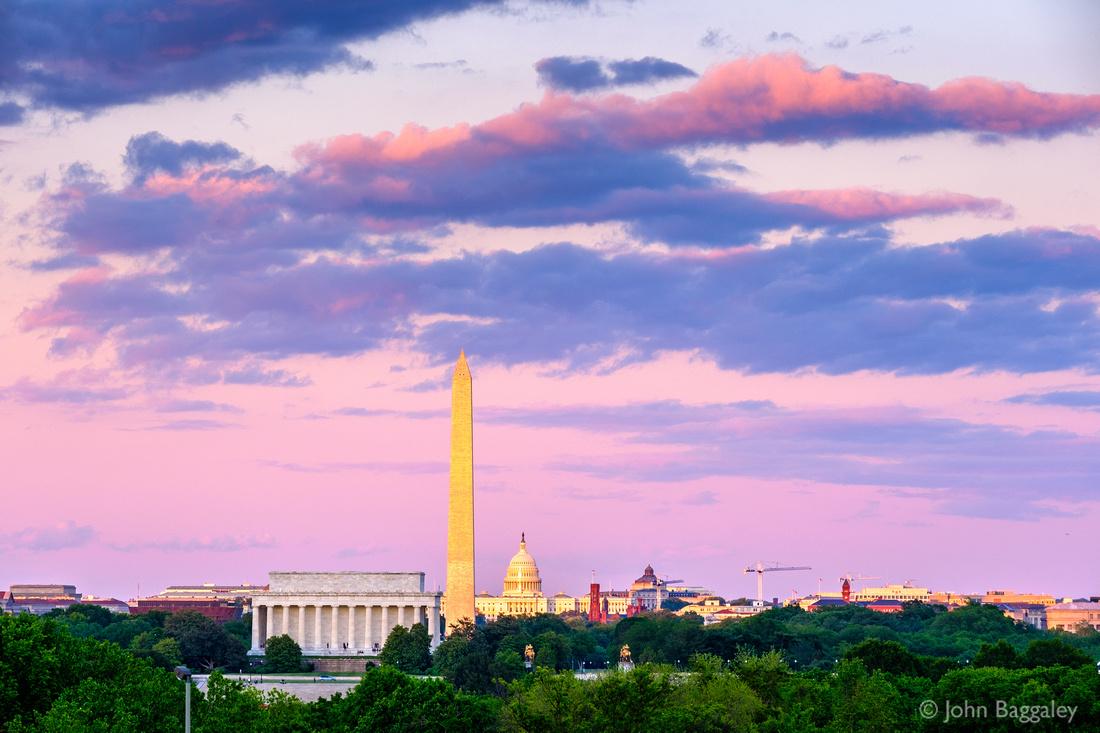 Sunset on Washington