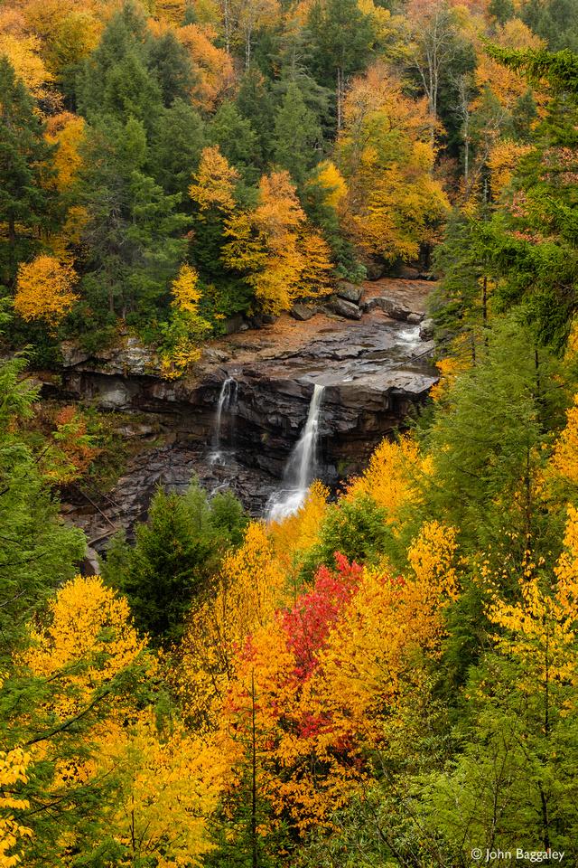 Blackwater Falls Framed by Autumn Foliage