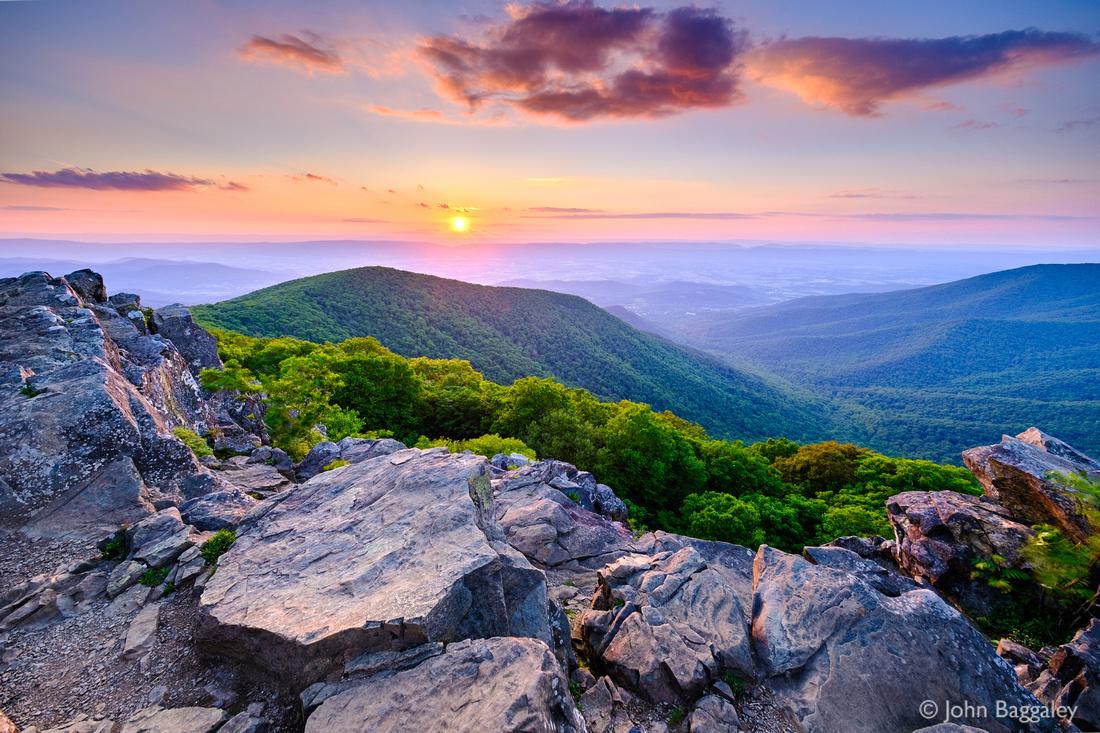 Sunset from Hawksbill Summit