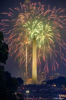 Washington Monument with Fireworks No. 5