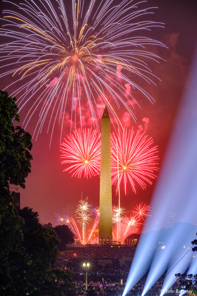 Washington Monument with Fireworks No. 7