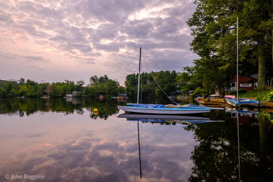 Resting Sailboats at Dawn