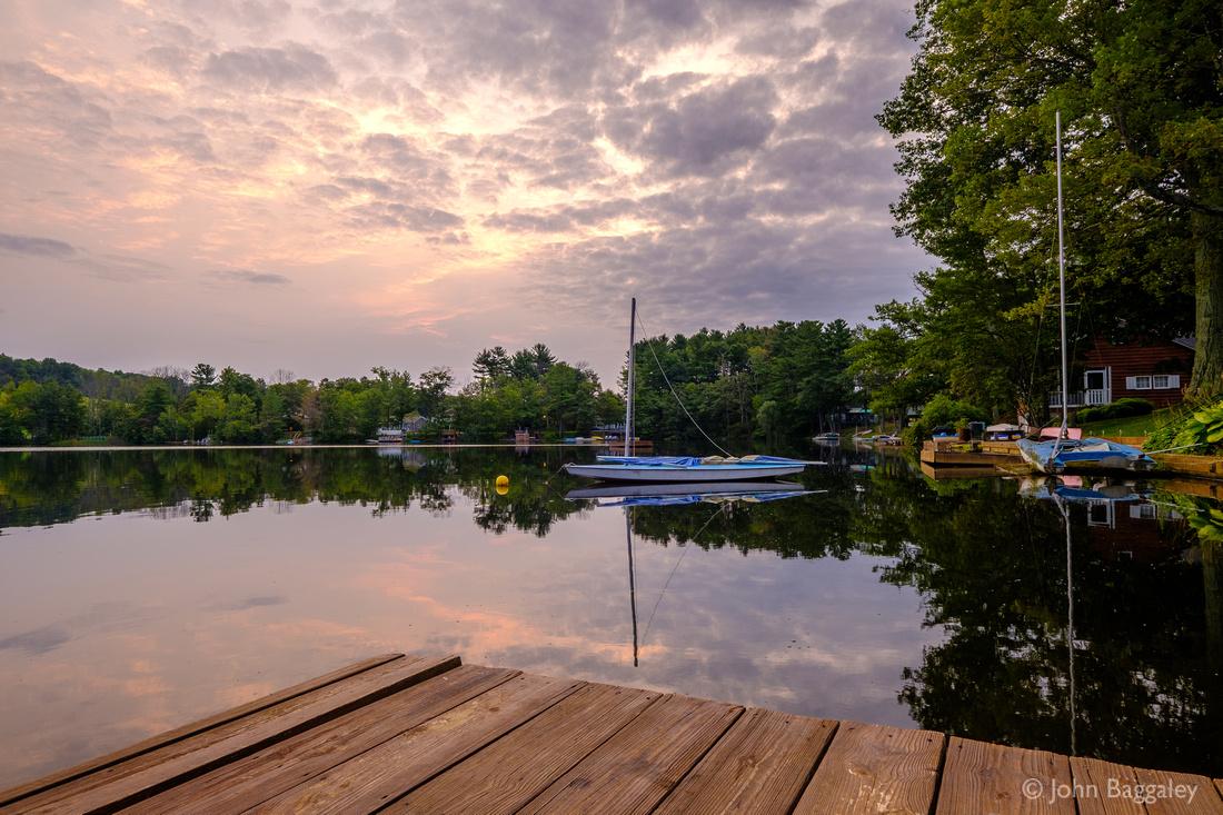 Sailboats and a Cloudy Sunrise