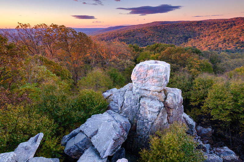 First Light at Chimney Rock