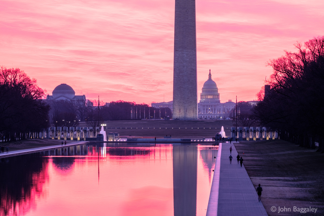 Just Before Sunrise at the Lincoln Memorial Reflecting Pool