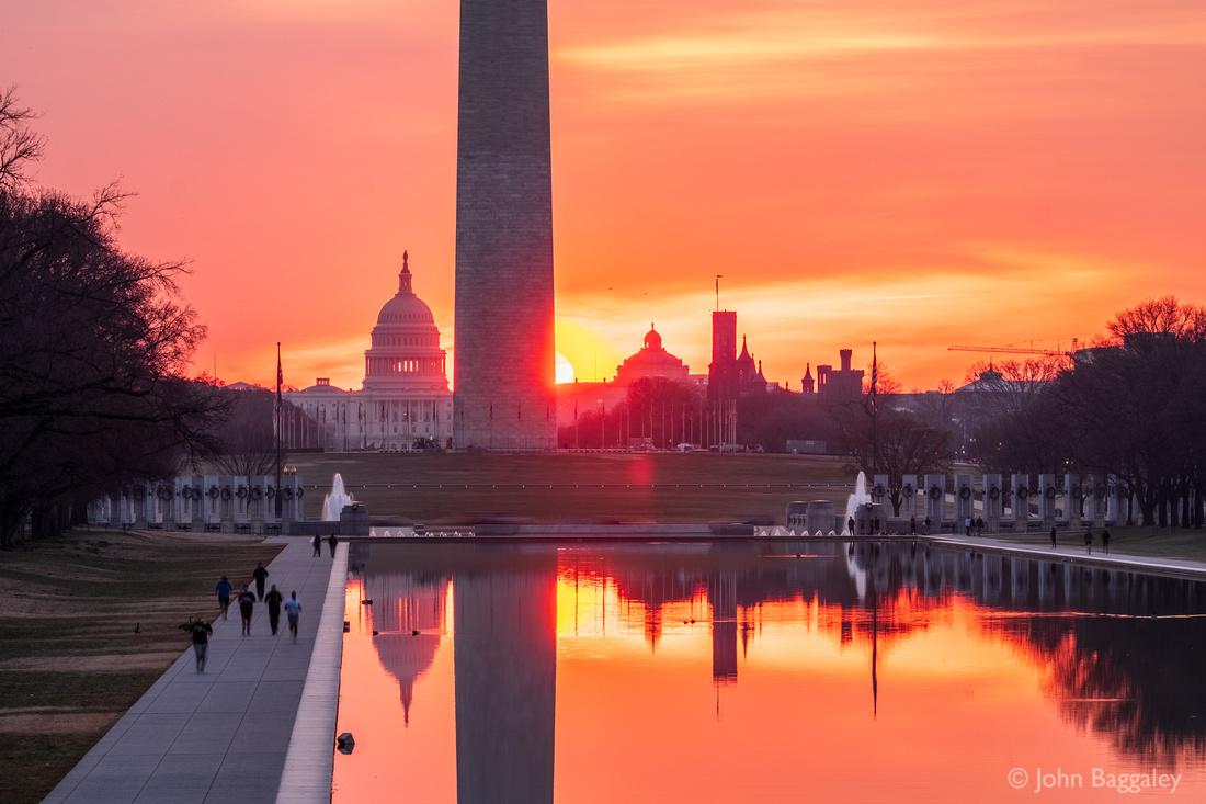 Sunrise at the Reflecting Pool
