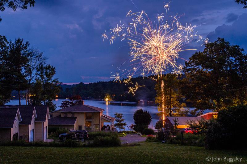 Sparkles above Lake Wesauking