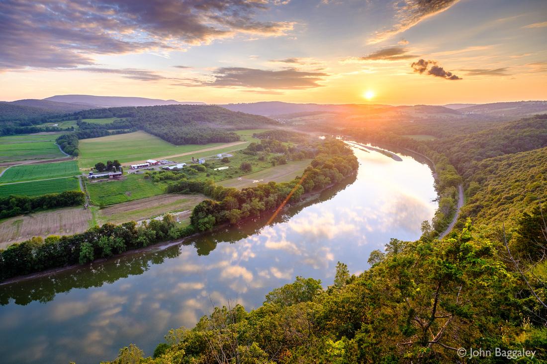 Summer Sunset on the Susquehanna River
