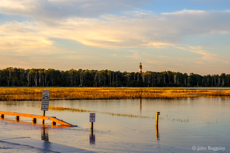 High Tide and Storm Surge at Chincoteague Wildlife Refuge