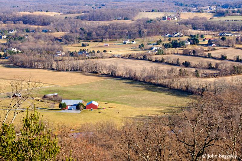 Snowless winter in rural Maryland