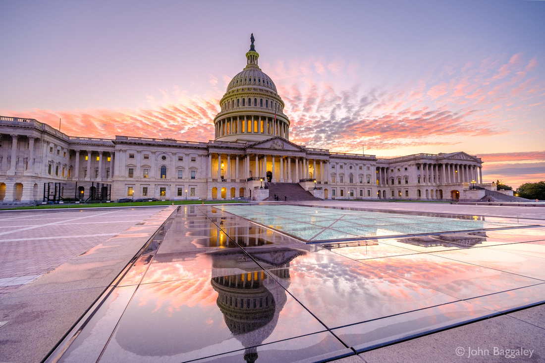 Pink and purple over the Capitol