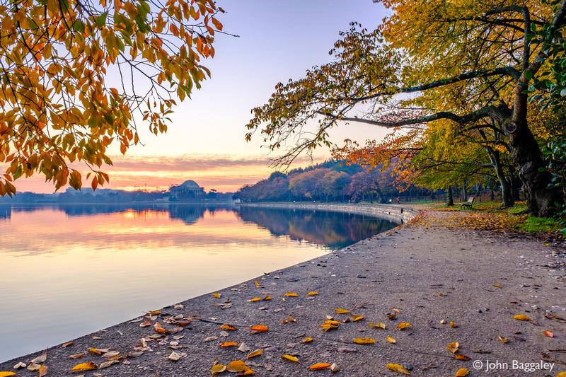 Autumn sunrise at the Tidal Basin