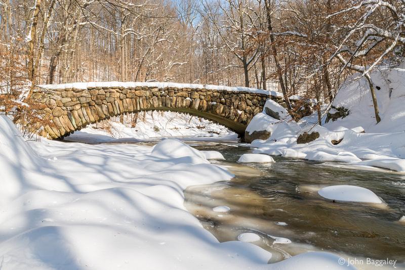 Boulder Bridge with snow