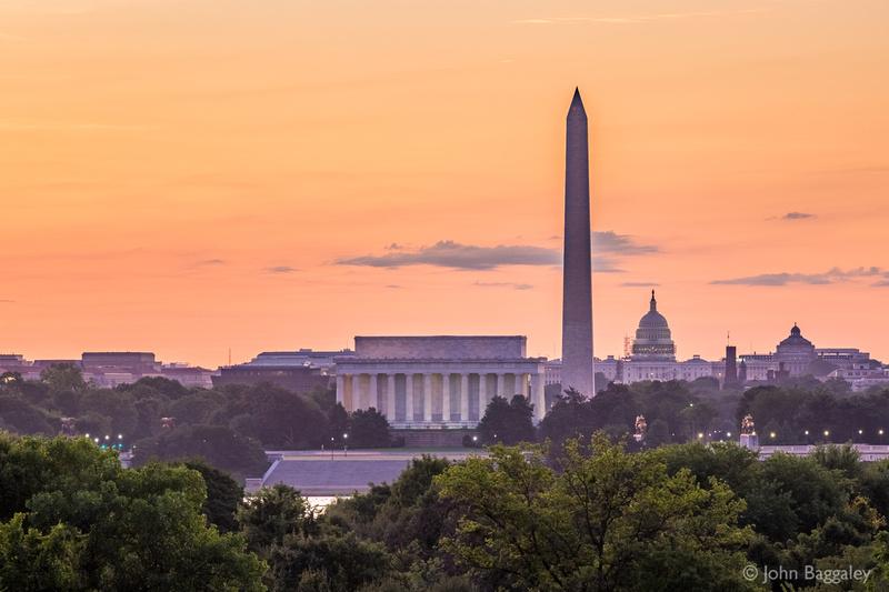 August Sunrise Over Washington