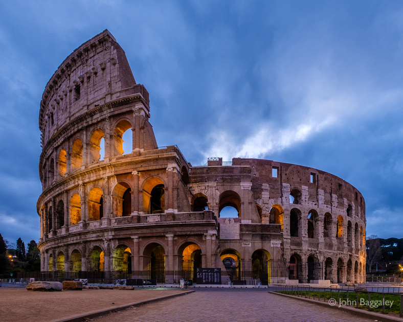 Colosseum Morning Clouds