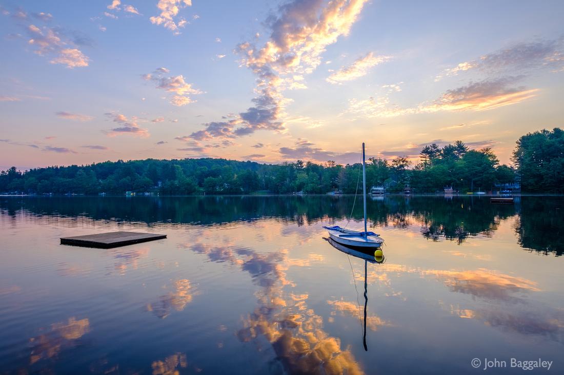Lake Color at Sunrise
