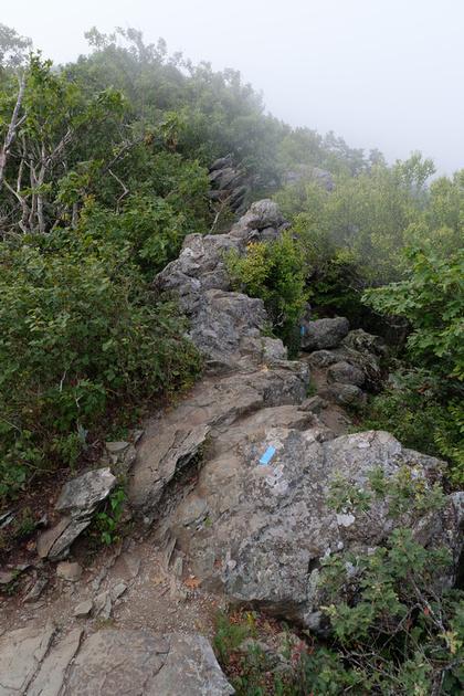 Bearfence Rock Scramble in Fog