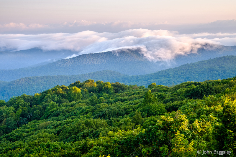 Low Clouds over the Blue Ridge Mountains
