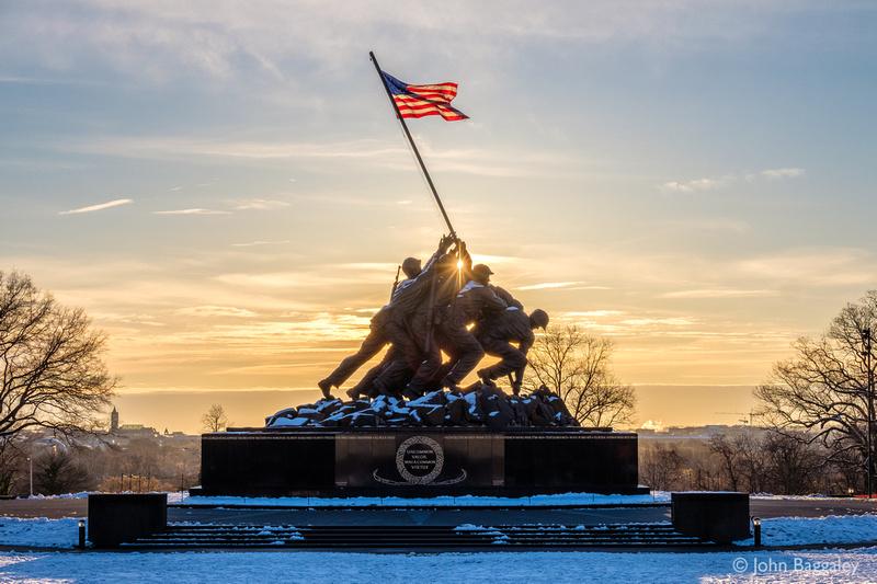 Marine Corps War Memorial Sunstar
