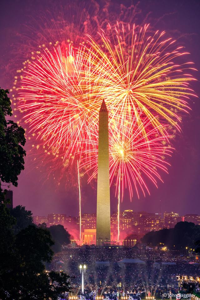 Washington Monument with Fireworks No. 1