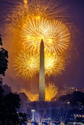 Washington Monument with Fireworks No. 2