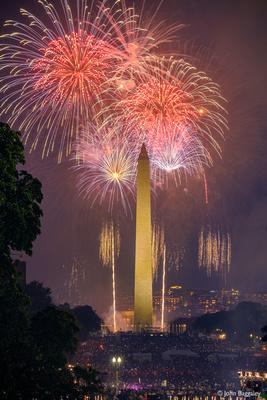 Washington Monument with Fireworks No. 3