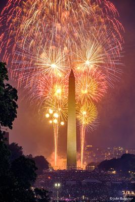 Washington Monument with Fireworks No. 4