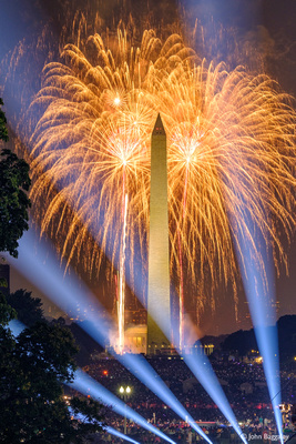 Washington Monument with Fireworks No. 8