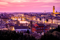 Pink skies over Florence