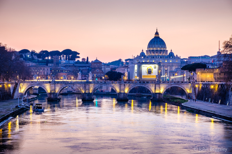 The Vatican and River Tiber at Twilight