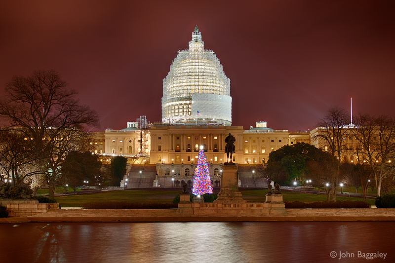 2014 Capitol Christmas Tree and US Capitol