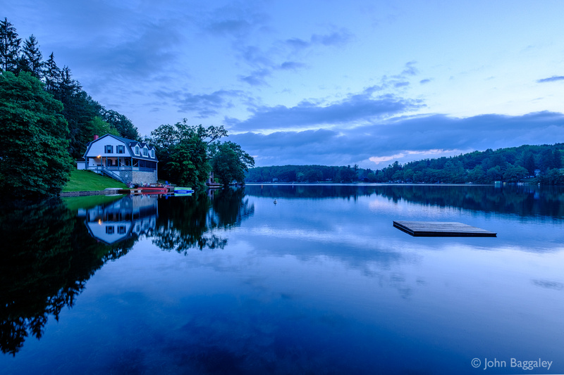 Blue Hour at the Lake House